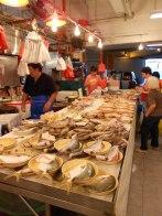 Fish table at Singapore market
