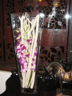 Flowers at the Spice Route restaurant in the Imperial Hotel, New Delhi