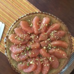 Grapefruit and pistachio cake