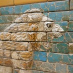 Glazed lion at Ishtar gate