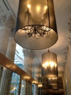 Lamp shades at the Westin Paris