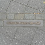 Marker for the Berlin wall