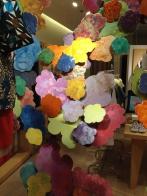Painted wood flower petals